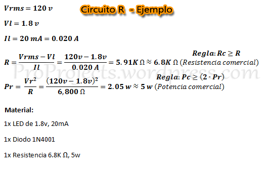 Circuito R - Ejemplo