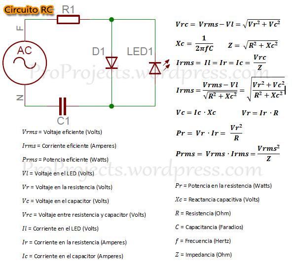 Circuito RC y Formulas
